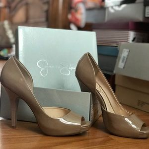 Nude Patent leather Pumps by Jessica Simpson 8.5